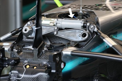 Gary Anderson explains new Mercedes F1 suspension part