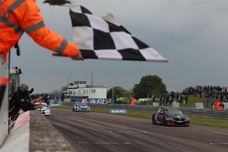 Thruxton BTCC: Josh Cook jumps Ash Sutton to win finale