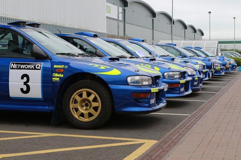 Subaru World Rally Cars gather at Prodrive ahead of Ralli22 event
