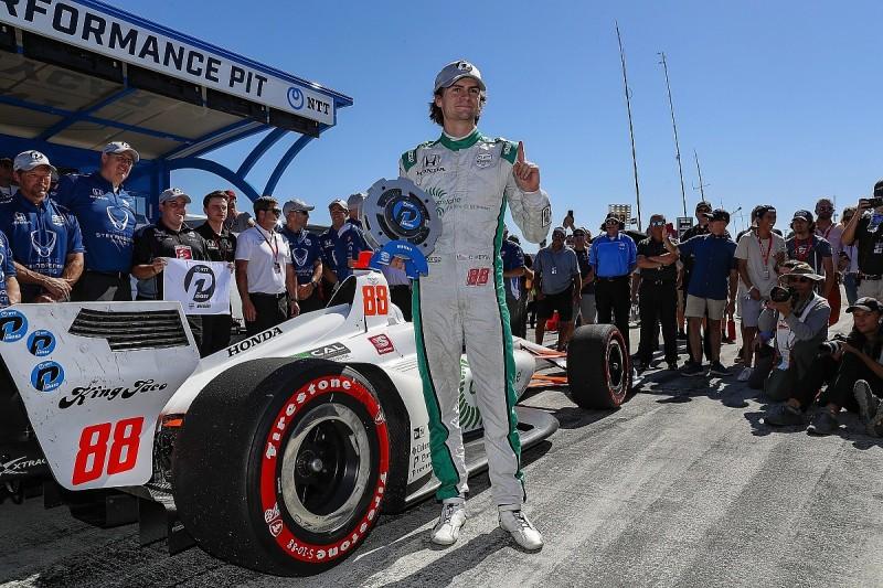 IndyCar Laguna Seca: Herta takes pole as Dixon, Rossi edge Newgarden