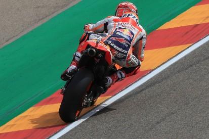 Honda MotoGP rider Marquez on pole at Aragon for 200th grand prix start
