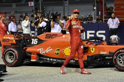 Leclerc thought he'd crash three times on Singapore Formula 1 pole lap