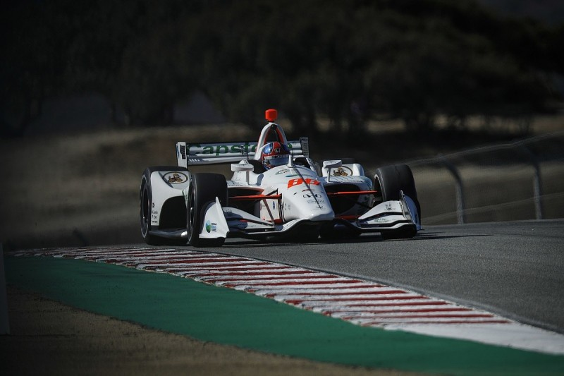 Laguna Seca IndyCar: Colton Herta leads Felix Rosenqvist in practice