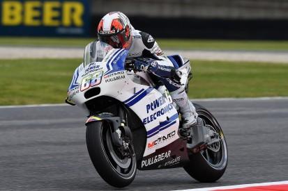 Aspar Ducati's Hernandez fastest in damp Mugello MotoGP practice