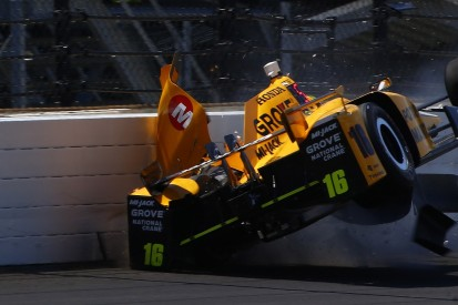 Indy 500: Spencer Pigot suffers first crash during practice