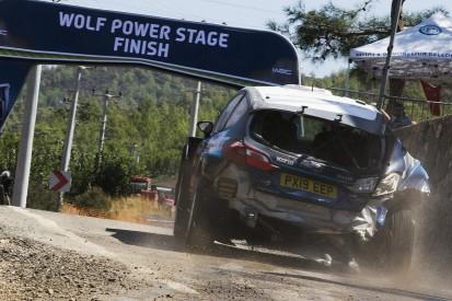 First Fiesta R5 WRC 2 win followed roll, ditch tyre change
