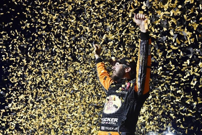 Las Vegas NASCAR: Martin Truex Jr wins as playoffs begin