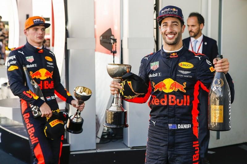 Red Bull F1 boss Horner: Max Versappen gains challenged Ricciardo