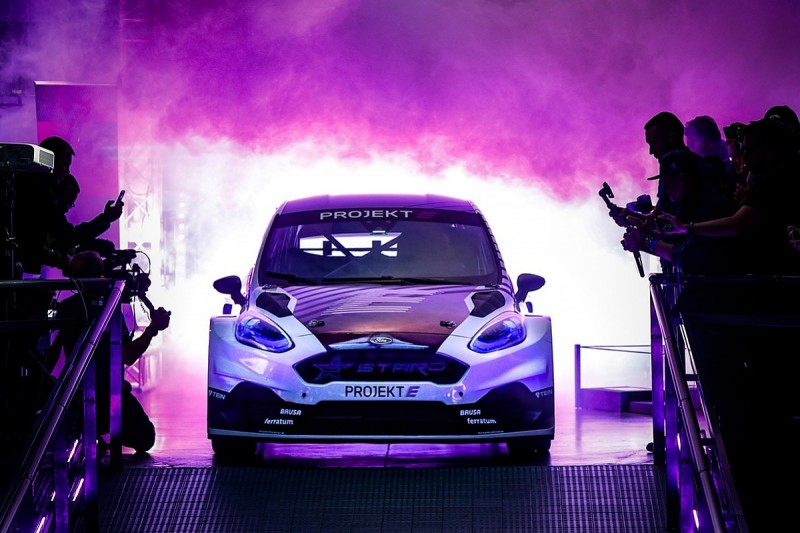 First Projekt E electric rallycross car unveiled at Latvian WRX
