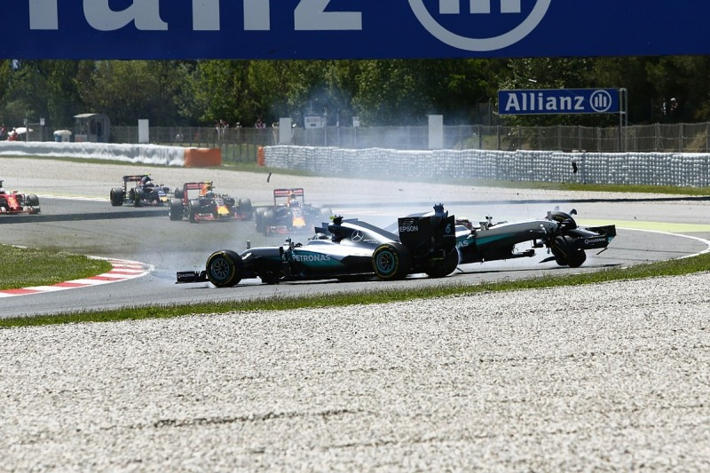 Lauda slams Hamilton after collision with Rosberg in Spanish GP