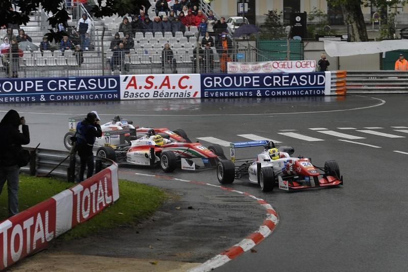 European F3 Pau: Ben Barnicoat wins race one in the rain