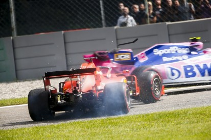 """Vettel """"couldn't see anything"""" past cockpit sides in Monza incident"""