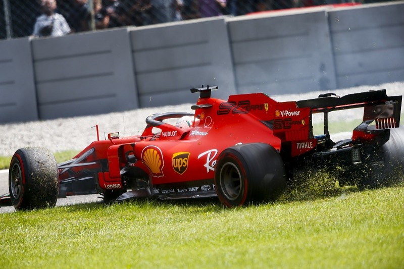 Vettel one major incident from F1 ban after 'dangerous' Monza move