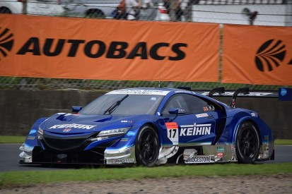 Honda once again locks out front row at SUPER GT Autopolis