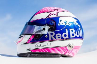 Toro Rosso F1 driver Gasly unveils Hubert tribute helmet