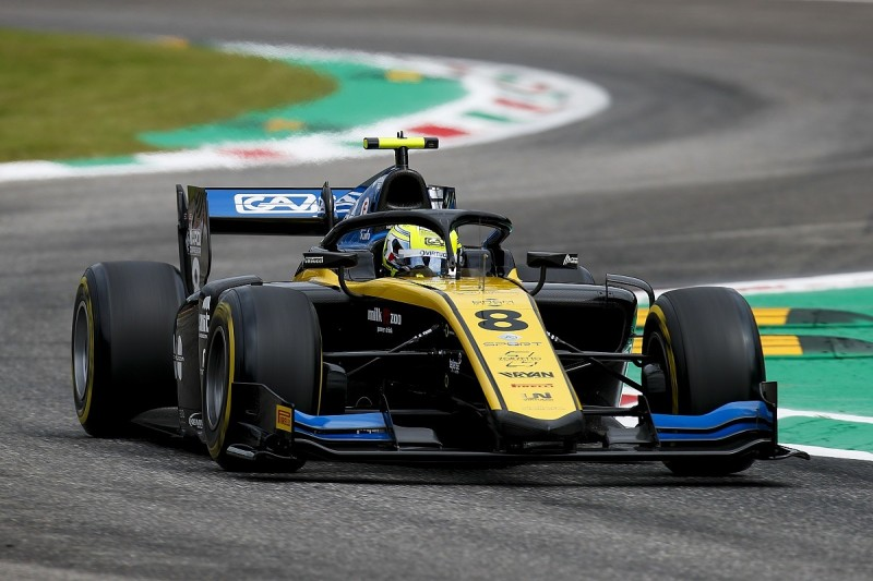 Luca Ghiotto tops F2 Monza practice but remains under investigation
