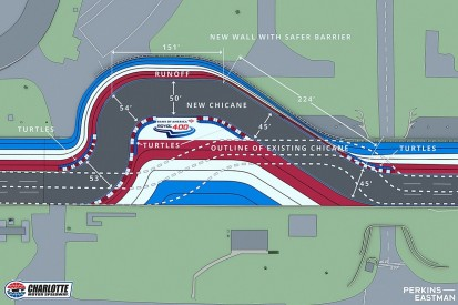 """Revised NASCAR Charlotte Roval chicane now """"30mph slower"""""""