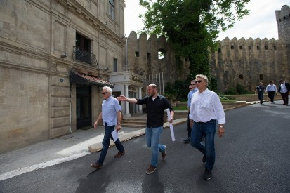 F1 race director Charlie Whiting completes latest Baku inspection