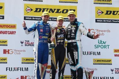 BTCC Thruxton: Adam Morgan wins red-flagged chaotic race one