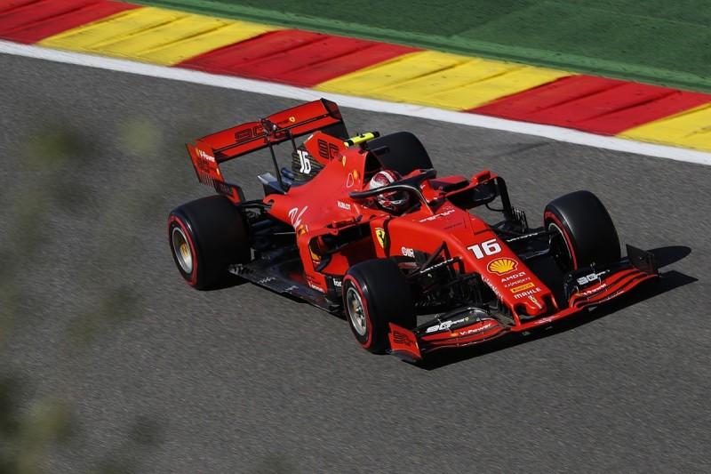 Belgian GP practice: Leclerc fastest again, heavy crash for Hamilton