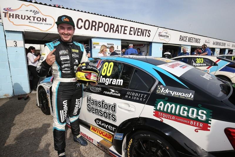 BTCC Thruxton: Tom Ingram tops frantic qualifying session