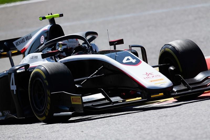 F2 Spa: Nyck de Vries seals pole as red flag ruins rivals' laps