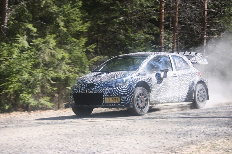 Pictures of Toyota's WRC test car emerge from running in Finland