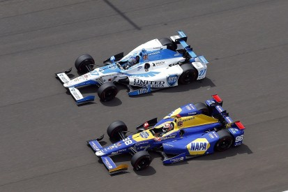 Marco Andretti and Alexander Rossi in 2018 IndyCar seat swap