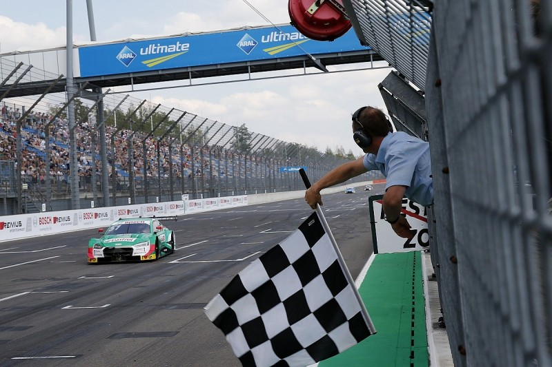 Audi DTM title fight intensifies as Muller steals Lausitzring win