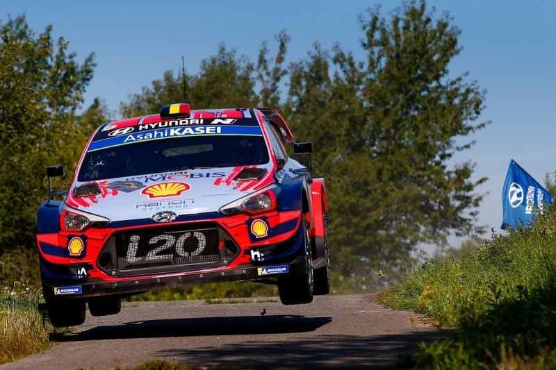 Hyundai's Neuville keeps pressure on Tanak in WRC Rally Germany