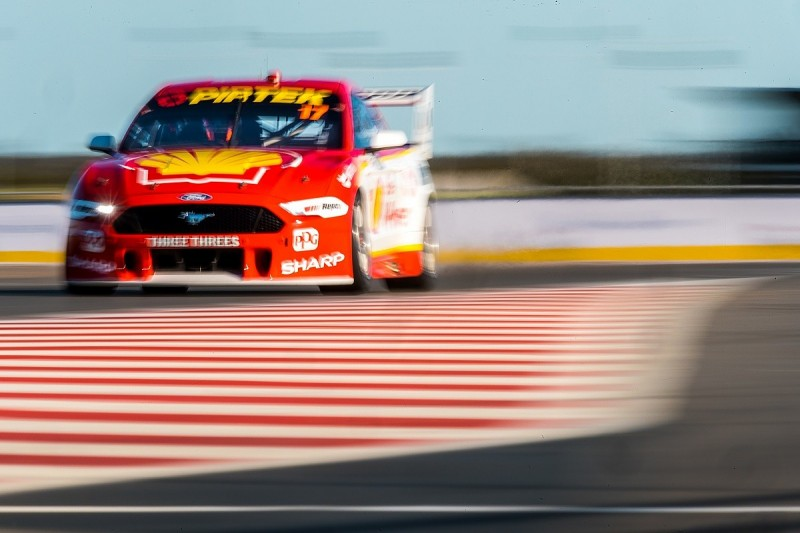 McLaughlin beats Mostert to win in first Supercars race at The Bend