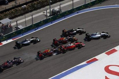 Sebastian Vettel and Daniil Kvyat collide again during Russian GP