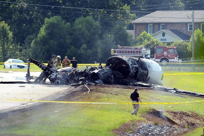 NASCAR star Dale Earnhardt Jr and family survive fiery plane crash