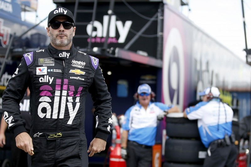 NASCAR legend Johnson defends his 'quivering lip' spat with Blaney