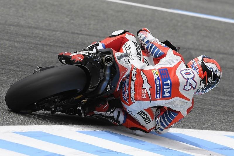 Water leak onto rear tyre forced Dovizioso out of MotoGP Jerez
