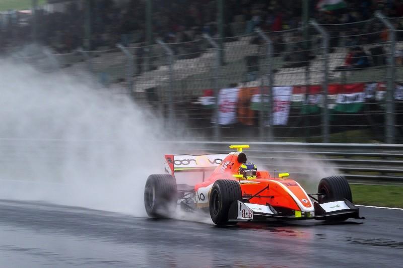 AVF racer Tom Dillmann takes Formula V8 3.5 pole at wet Hungaroring