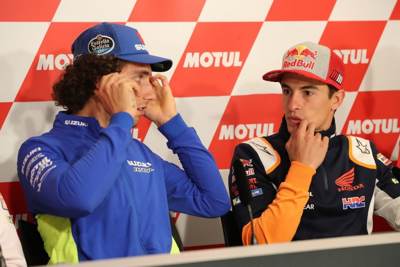 Marquez, Rins summoned by MotoG Race Direction over qualifying spat