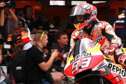 Marquez dominates wet Brno MotoGP FP3