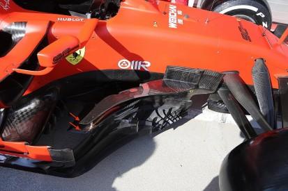 Hungarian GP: Ferrari adds 'boomerang' wings to F1 bargeboards