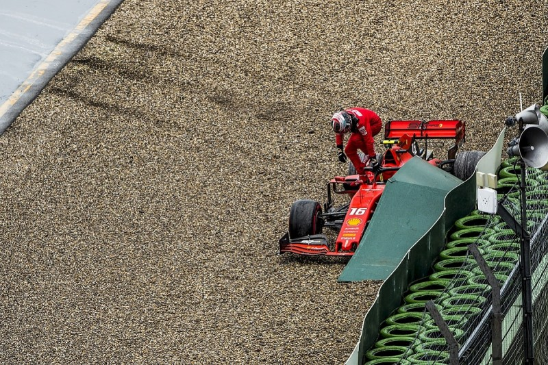 """Charles Leclerc """"put everything in the bin"""" with German GP crash"""