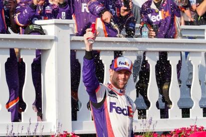 NASCAR Pocono: Hamlin leads JGR 1-2-3 ahead of Jones and Truex Jr