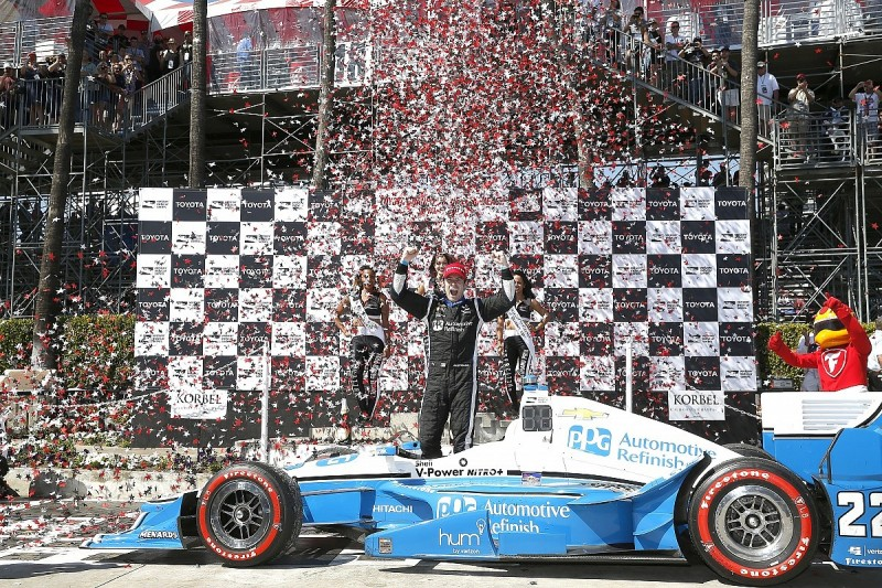 Simon Pagenaud takes controversial first Penske win in Long Beach