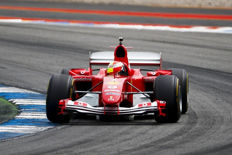 """Schumacher says the wait to drive his father's F2004 was """"torture"""""""
