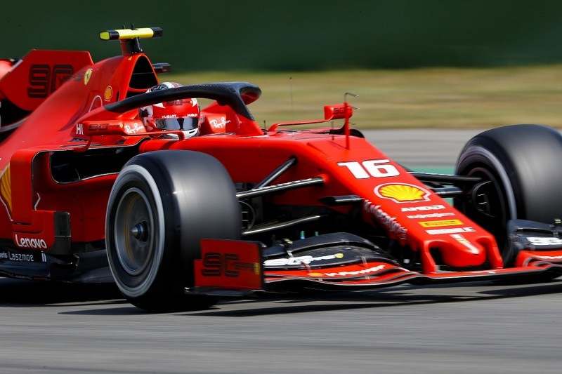 German Grand Prix practice: Leclerc leads another Ferrari one-two