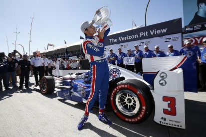 Helio Castroneves on Long Beach IndyCar pole after chaotic session
