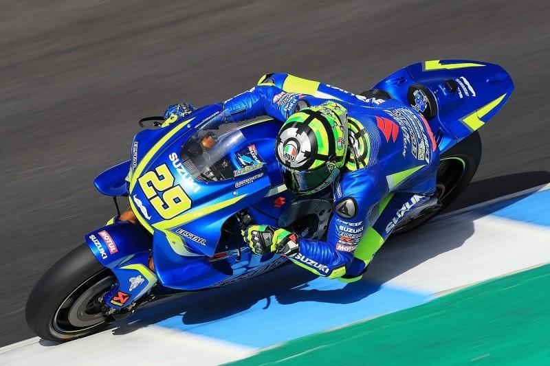 Suzuki MotoGP rider Iannone pips Crutchlow on day one of Jerez test