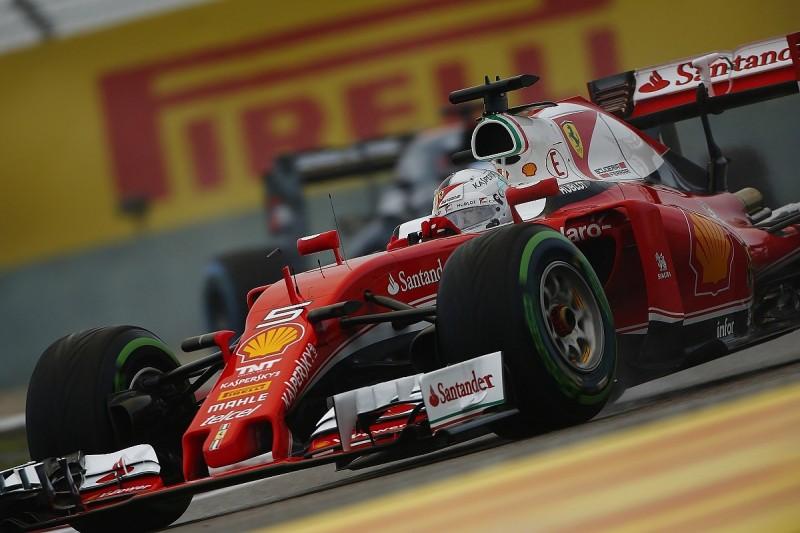 Ferrari's Sebastian Vettel fastest in wet final Chinese GP practice