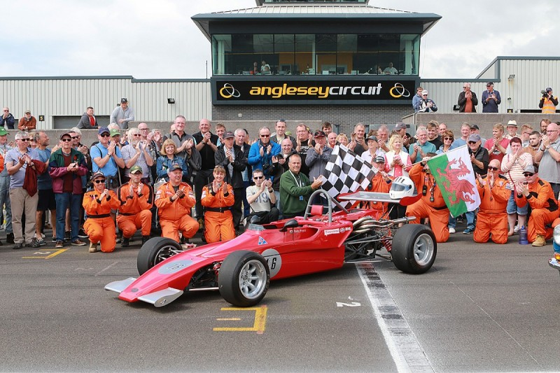 Late Formula 1 driver Tom Pryce celebrated at Anglesey circuit