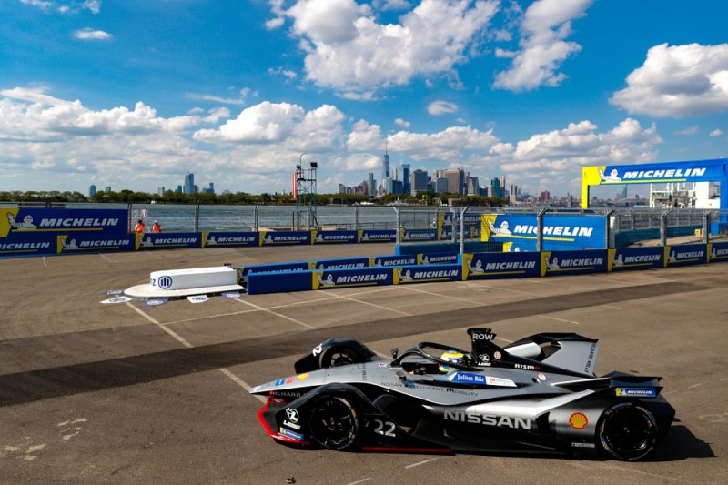 Nissan e.dams's Rowland leads New York Formula E practice times