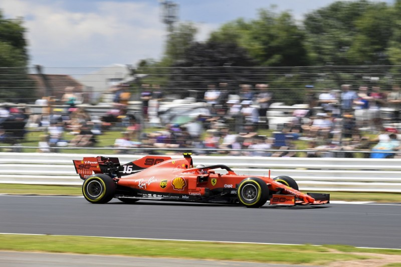 Leclerc plays down chances of fighting Mercedes in British GP